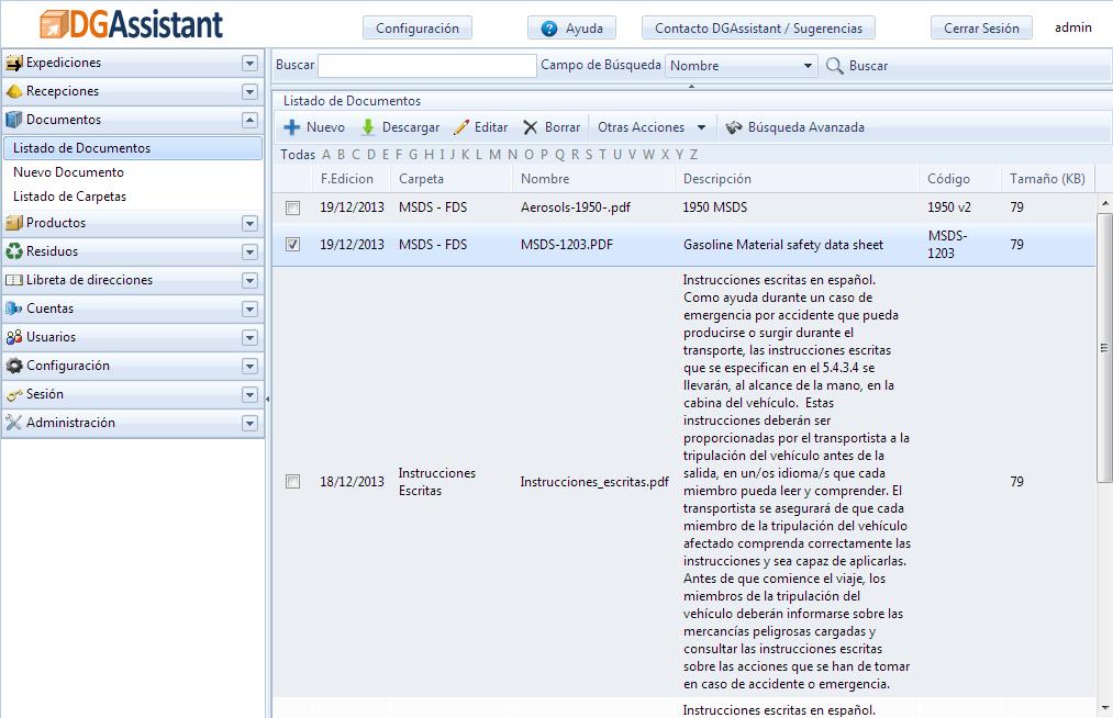 US 49 CFR DOT Document management for Hazardous Materials
